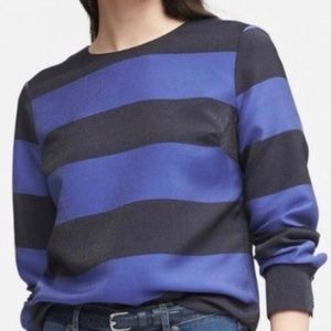 Banana Republic NWT Blue Striped Rugby, XS